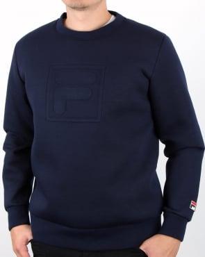 Fila Vintage Nardin Sweatshirt Navy