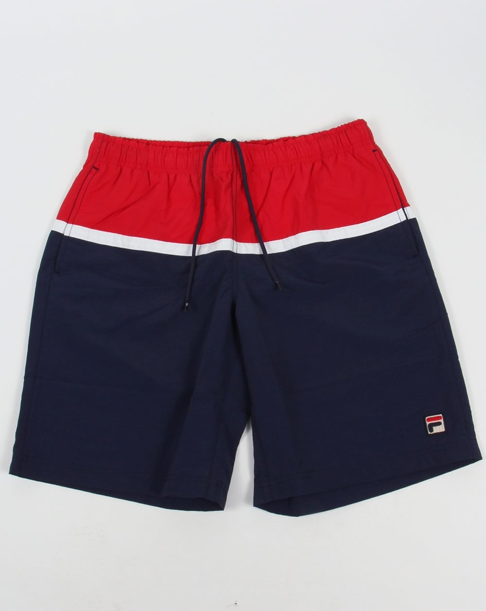 Fila Vintage Nargiso Swim Shorts Navy Beach Swimmers Mens