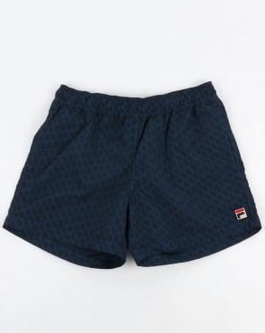 Fila Vintage Naso Swim Shorts Navy