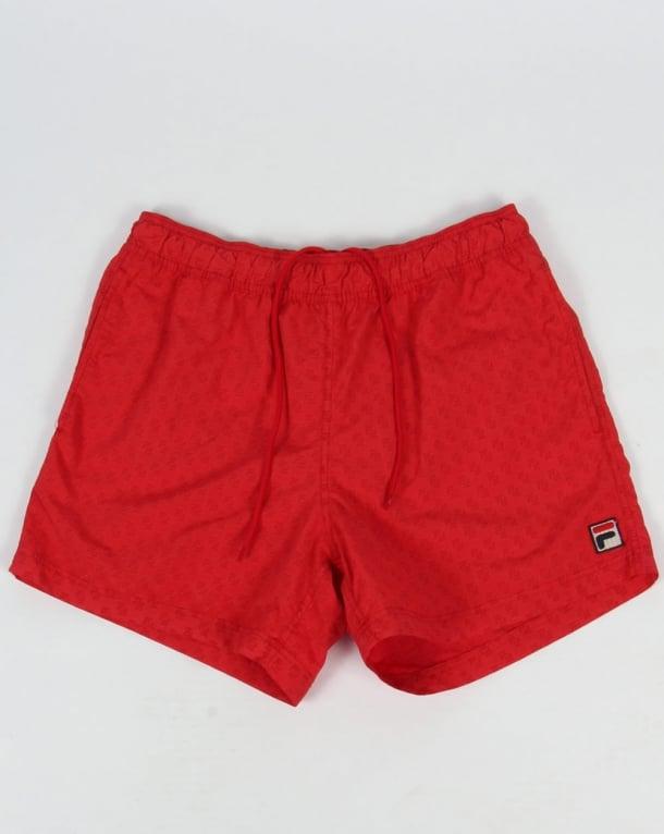 Fila Vintage Naso Swim Shorts Red