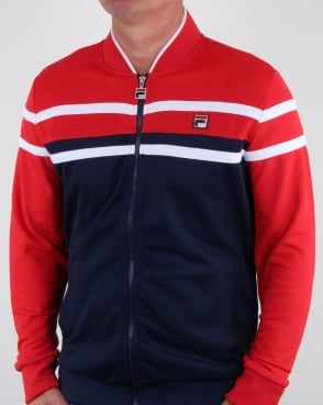 Fila Vintage Naso Track Top Red/navy/white