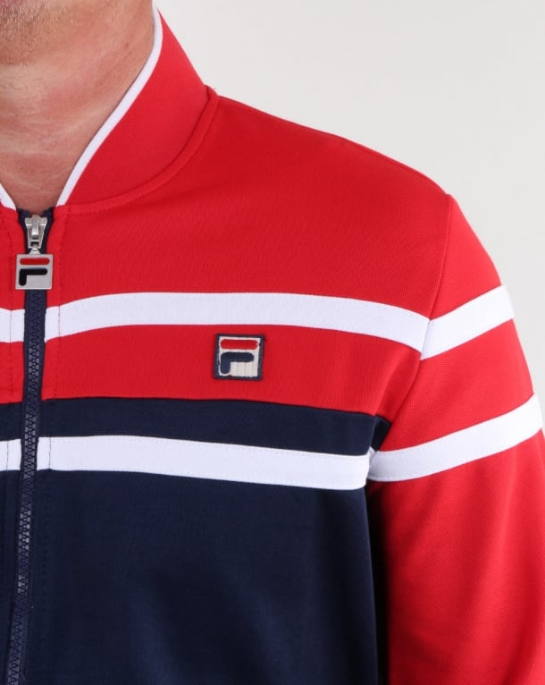 3623271c876 Fila Vintage Naso Track Top Red/navy/white, Mens, Track top, Tracksuit