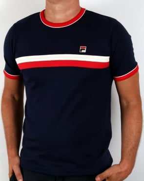 Fila Vintage Old Skool T-shirt Navy/Red