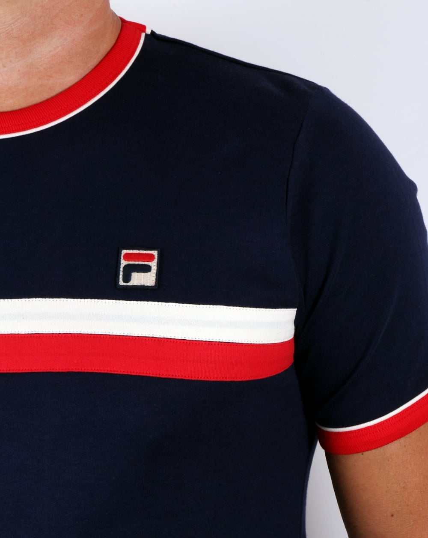 Fila Vintage Razee T shirt Navy Redteemens