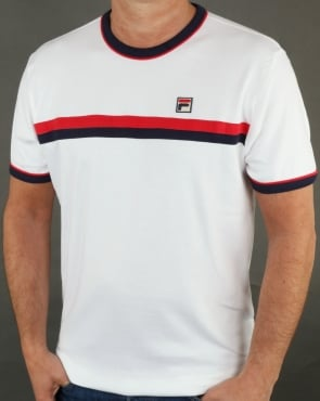 Fila Vintage Old Skool T Shirt White