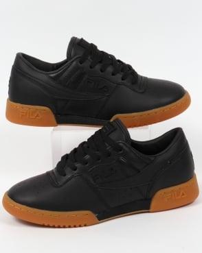 Fila Vintage Original Fitness Premium Trainers Black/Gum