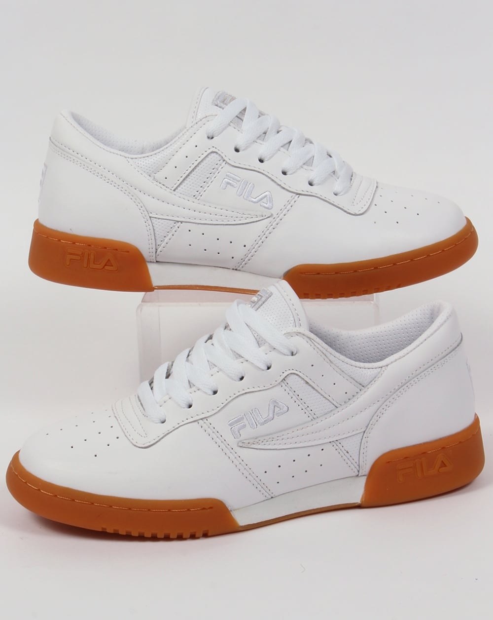 many styles running shoes colours and striking Fila Vintage Original Fitness Premium Trainers White/Gum