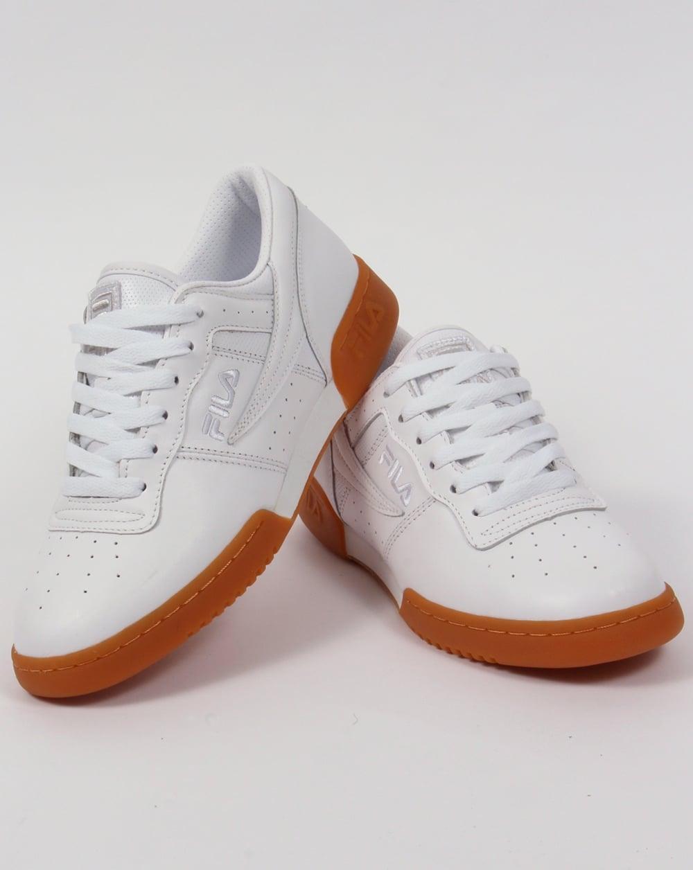 dc64507570a9 Fila Vintage Original Fitness Premium Trainers White Gum