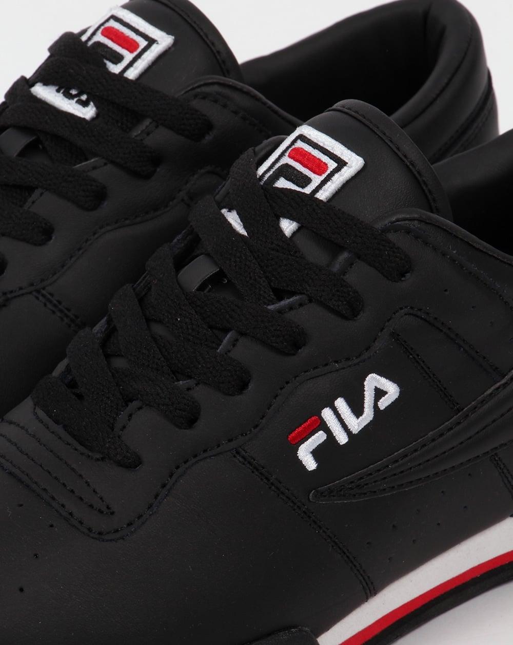 5c797ac187 Fila Vintage Original Fitness Trainers Black/White/Red