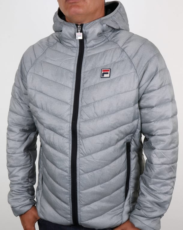 Fila Vintage Padded Puffer Jacket Grey