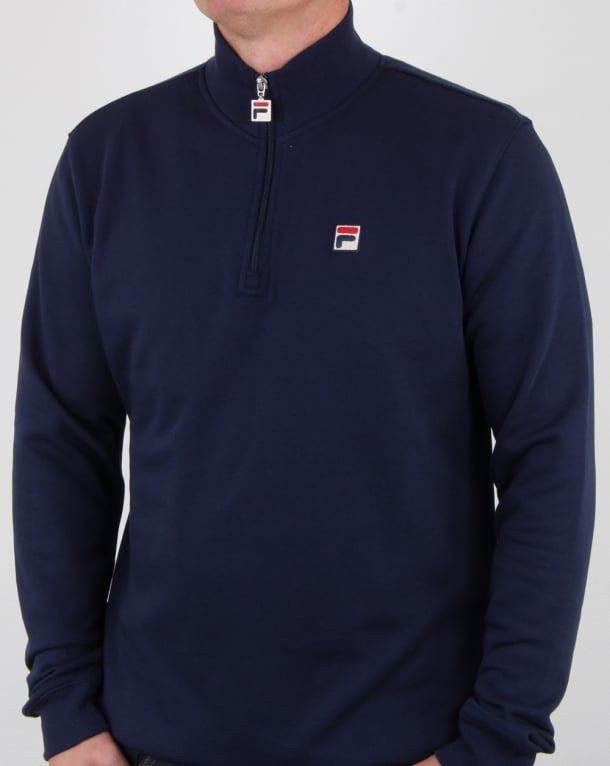 Fila Vintage Palermo Zip Sweat Navy