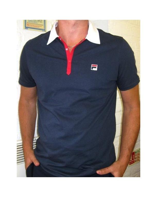 Fila Vintage Panatta Polo Shirt Navy