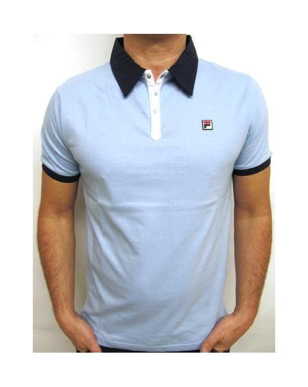 Fila Vintage Panatta Polo Shirt Sky Blue