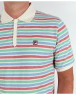 Fila Vintage Paradocks Striped Polo Shirt Gardenia/Red/Green