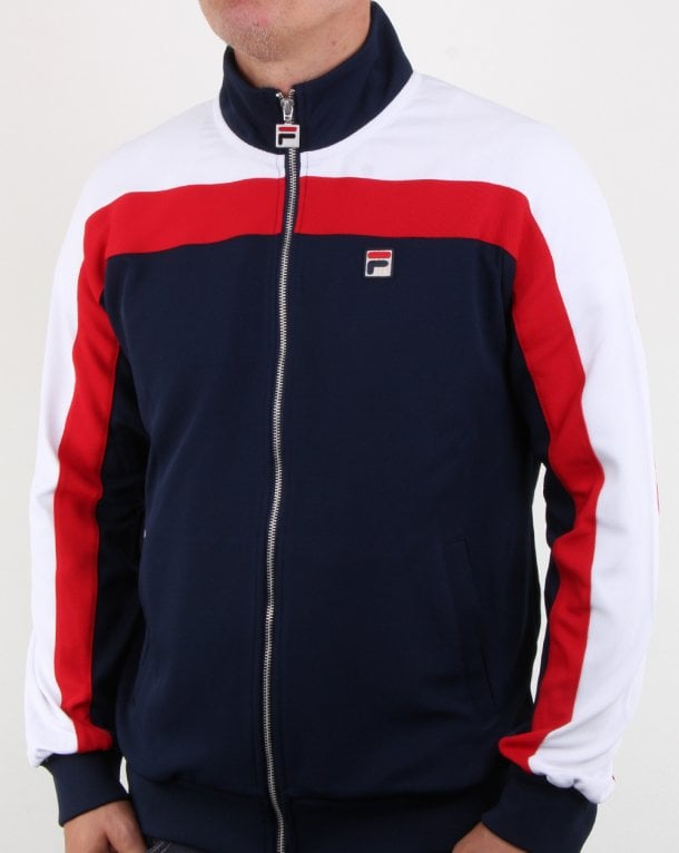 Fila Vintage Parker Track Top Navy/red/white