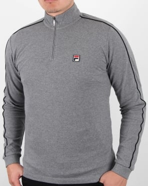 Fila Vintage Parrini Quarter Zip Roll Neck Grey
