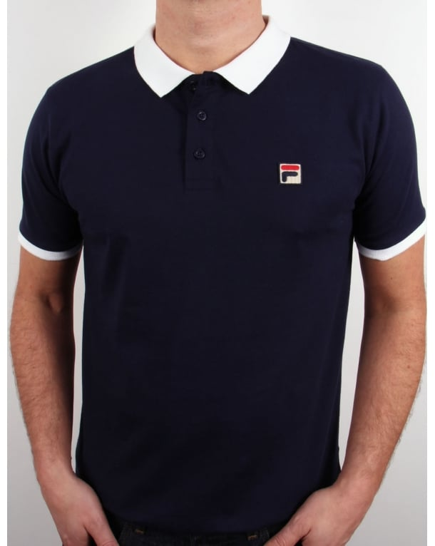 Fila Vintage Peleo Polo Shirt Navy