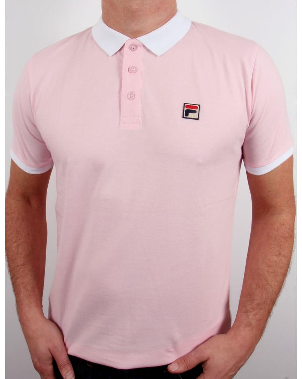 c36b1d93 Fila Vintage Peleo Polo Shirt Pink - fila peleo polo shirt, mens