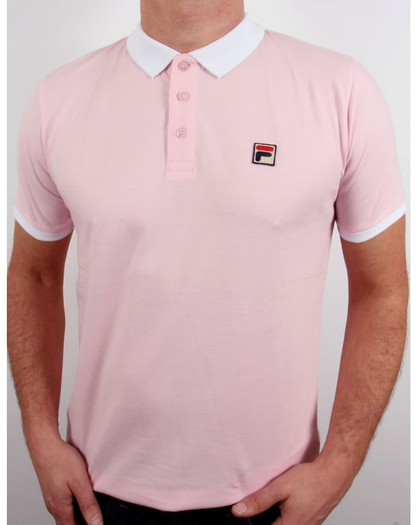 Fila Vintage Peleo Polo Shirt Pink
