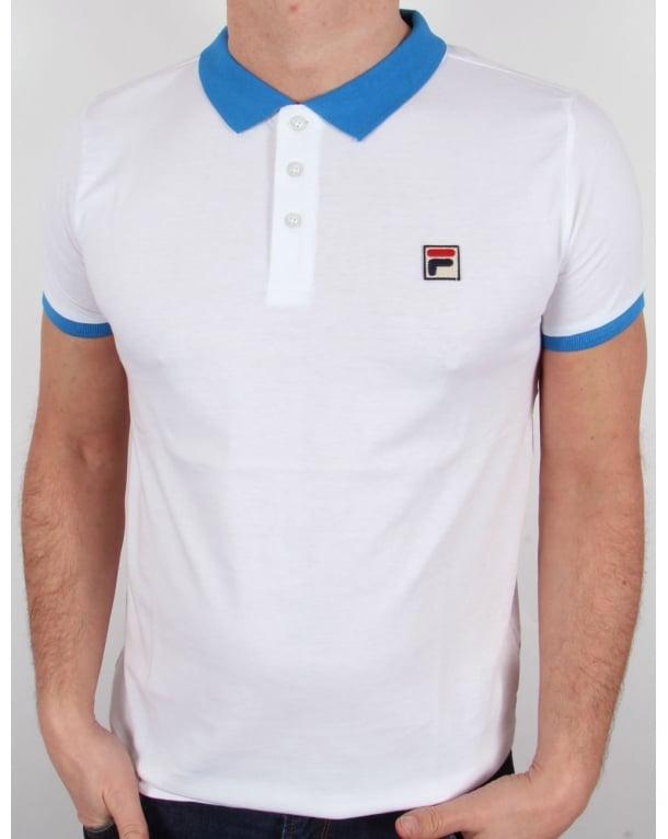 Fila Vintage Peleo Polo Shirt White