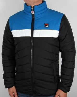 Fila Vintage Piselli Padded Jacket Black/Blue