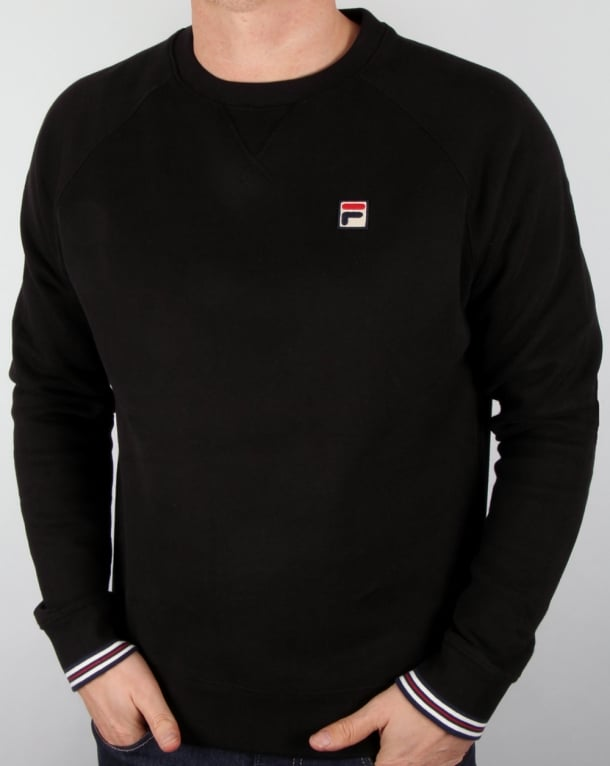 Black Fila crewneck