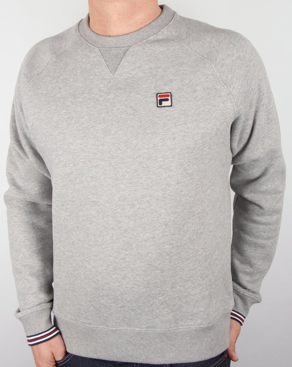 80eabd888182 Fila Vintage Fila Vintage Pozzi Sweatshirt Heather Grey