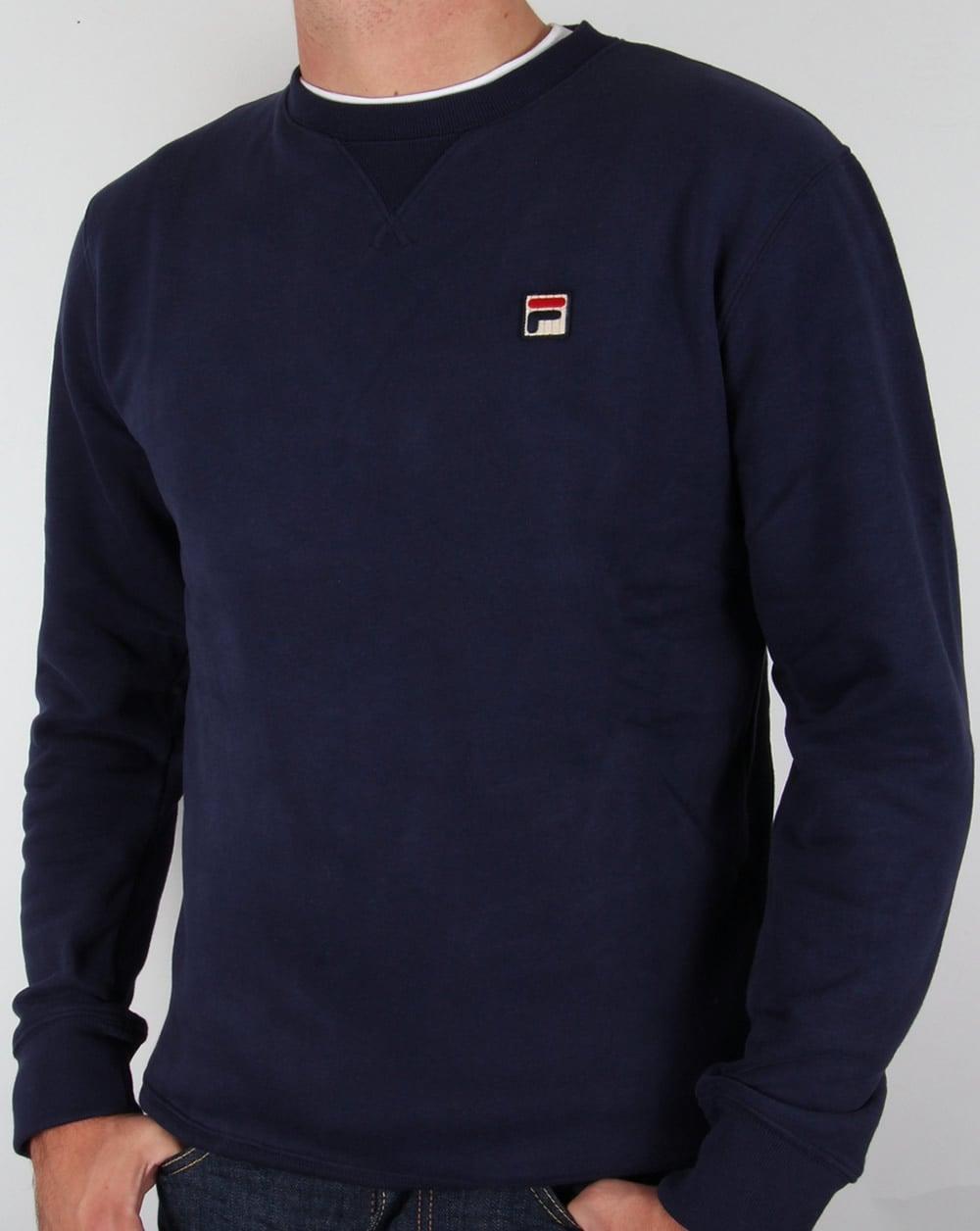 43d43597c8418 Fila Vintage Brixen Sweatshirt Navy,crew neck,round,sweat,mens