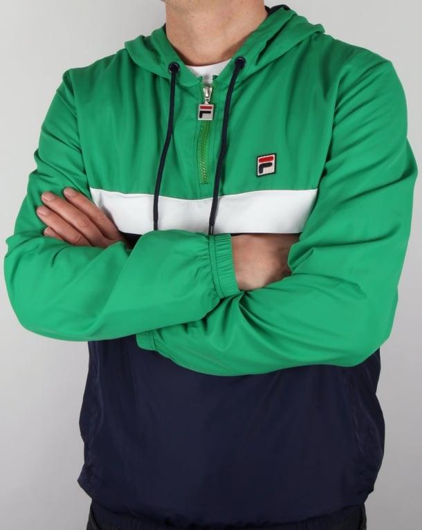 Fila Vintage Qtr Zip Overhead Jacket Navy Green