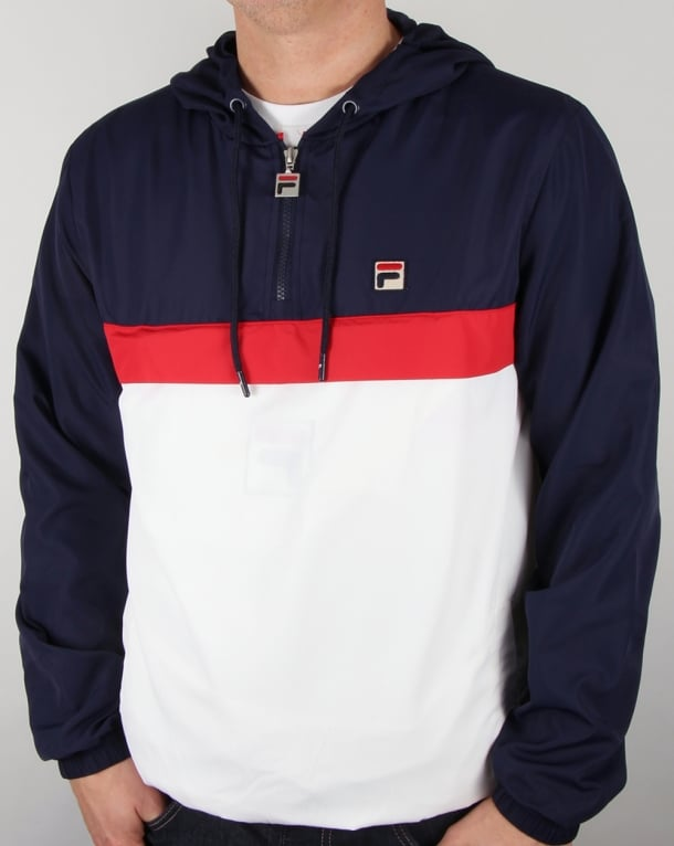 Fila Vintage Qtr Zip Overhead Jacket Navy/White/Red
