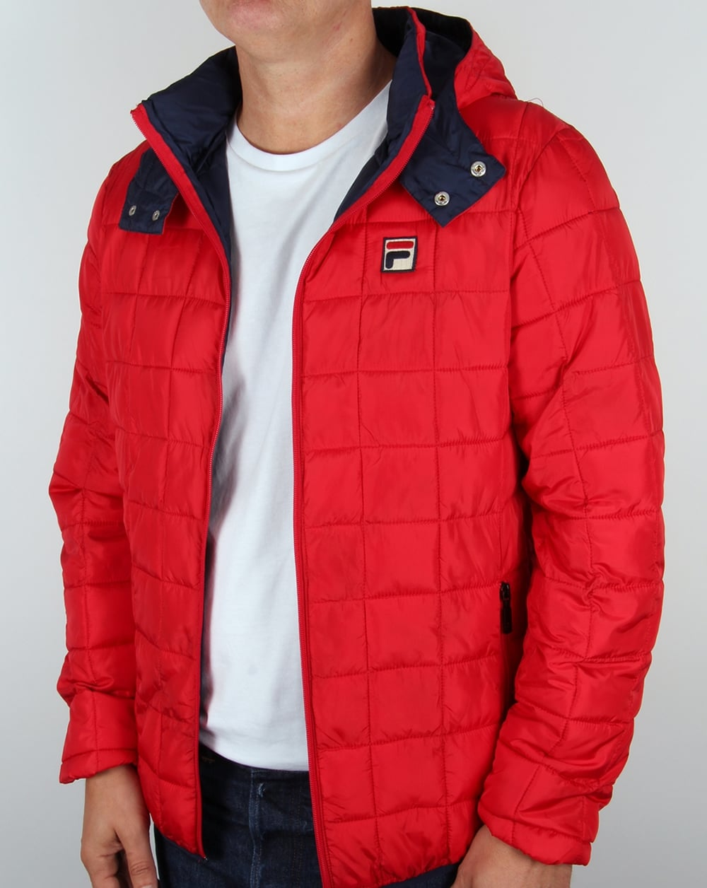 Fila Vintage Passo Quilted Jacket Red,coat,padded,hooded,mens : mens quilted hooded jacket - Adamdwight.com