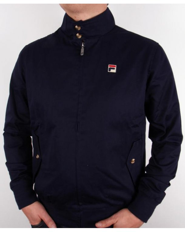 Fila Vintage Quintino Harrington Jacket Navy