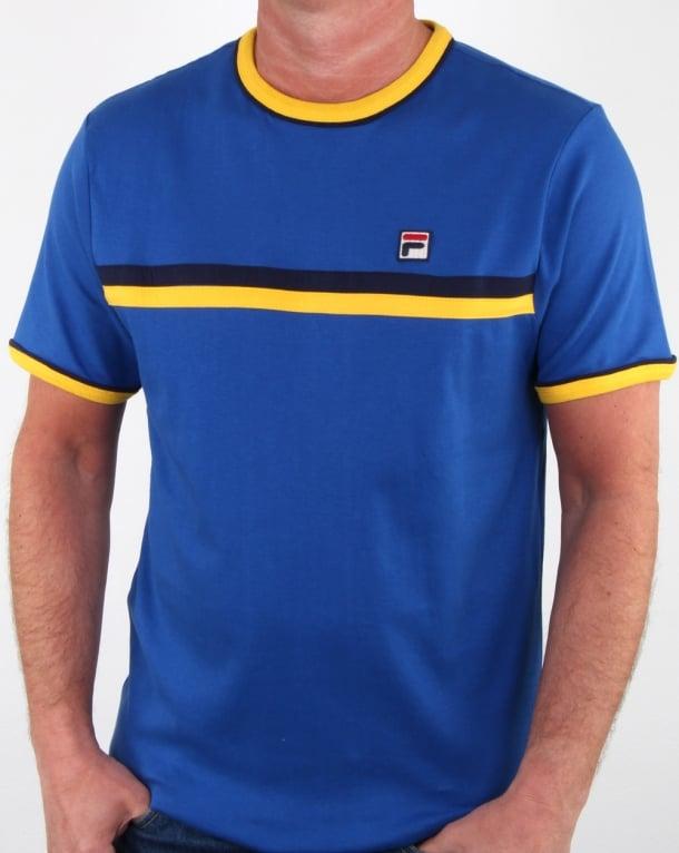 Fila Vintage Razee T Shirt Blue