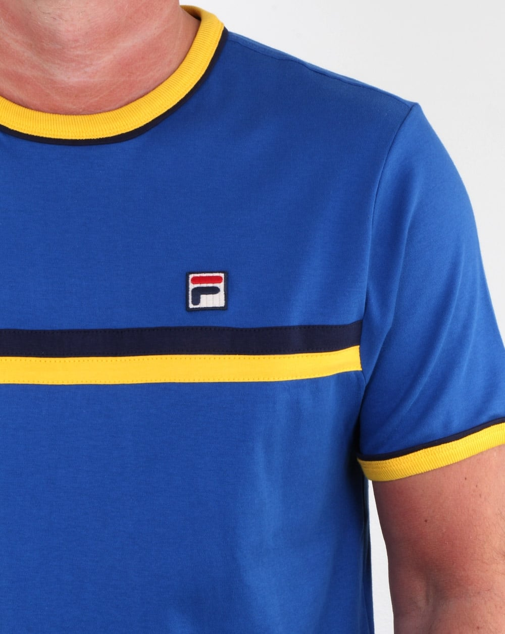 Fila Vintage T Shirt in Blue, Yellow