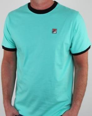 Fila Vintage Ringer T Shirt Aqua/Navy