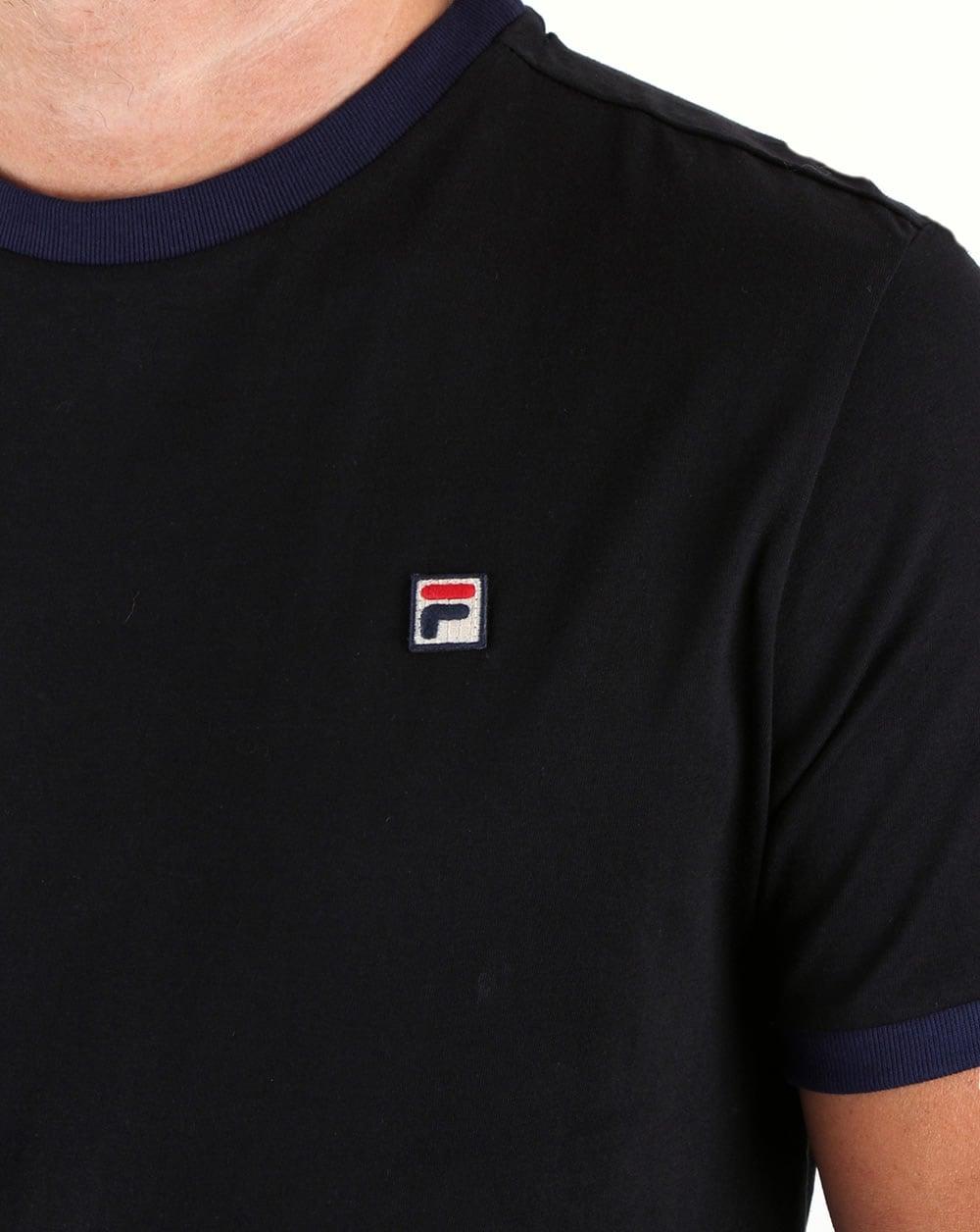1c6d05e1 Fila Vintage Ringer T Shirt Black