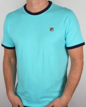 Fila Vintage Ringer T Shirt Blue Radience