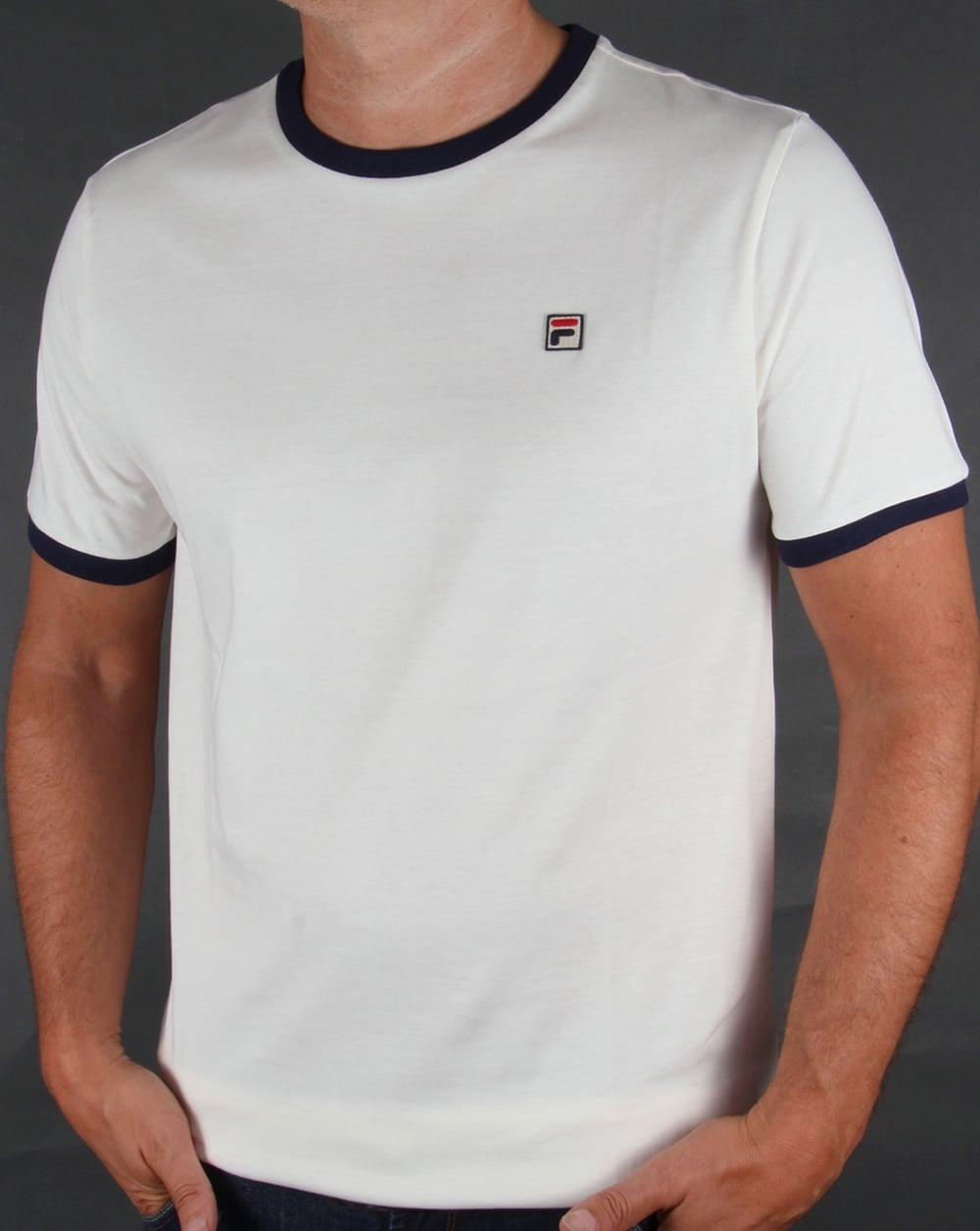 2bdc6115 Fila Vintage Ringer T-shirt Gardenia,marconi,tee,mens