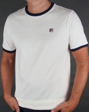 Fila Vintage Ringer T-shirt Gardenia