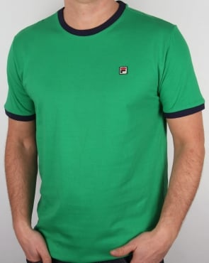 Fila Vintage Ringer T Shirt Kelly Green