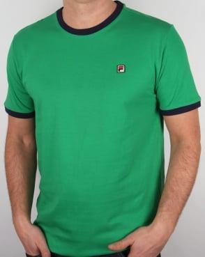 Fila Vintage Ringer T Shirt Kelly Green