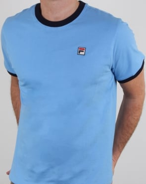 Fila Vintage Ringer T Shirt Lake Blue/navy
