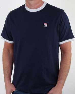 Fila Vintage Ringer T-shirt Navy