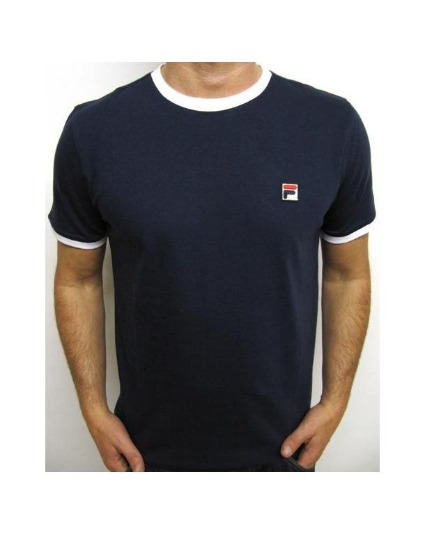 Fila Vintage Ringer T-shirt Navy/white
