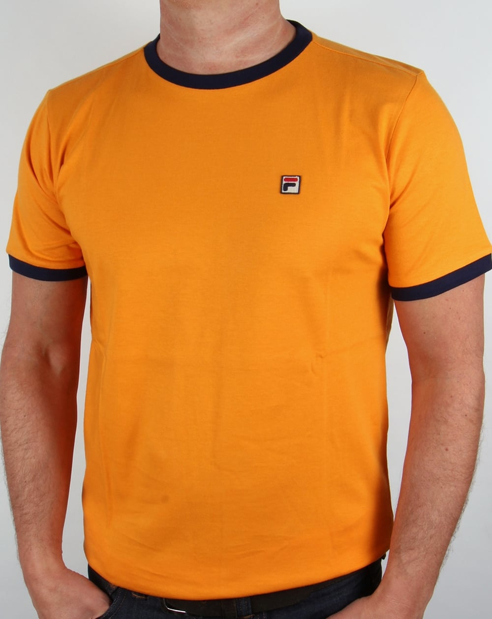 fila vintage ringer t shirt orange marconi tee mens. Black Bedroom Furniture Sets. Home Design Ideas
