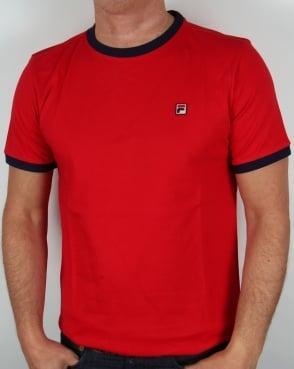 Fila Vintage Ringer T-shirt Red