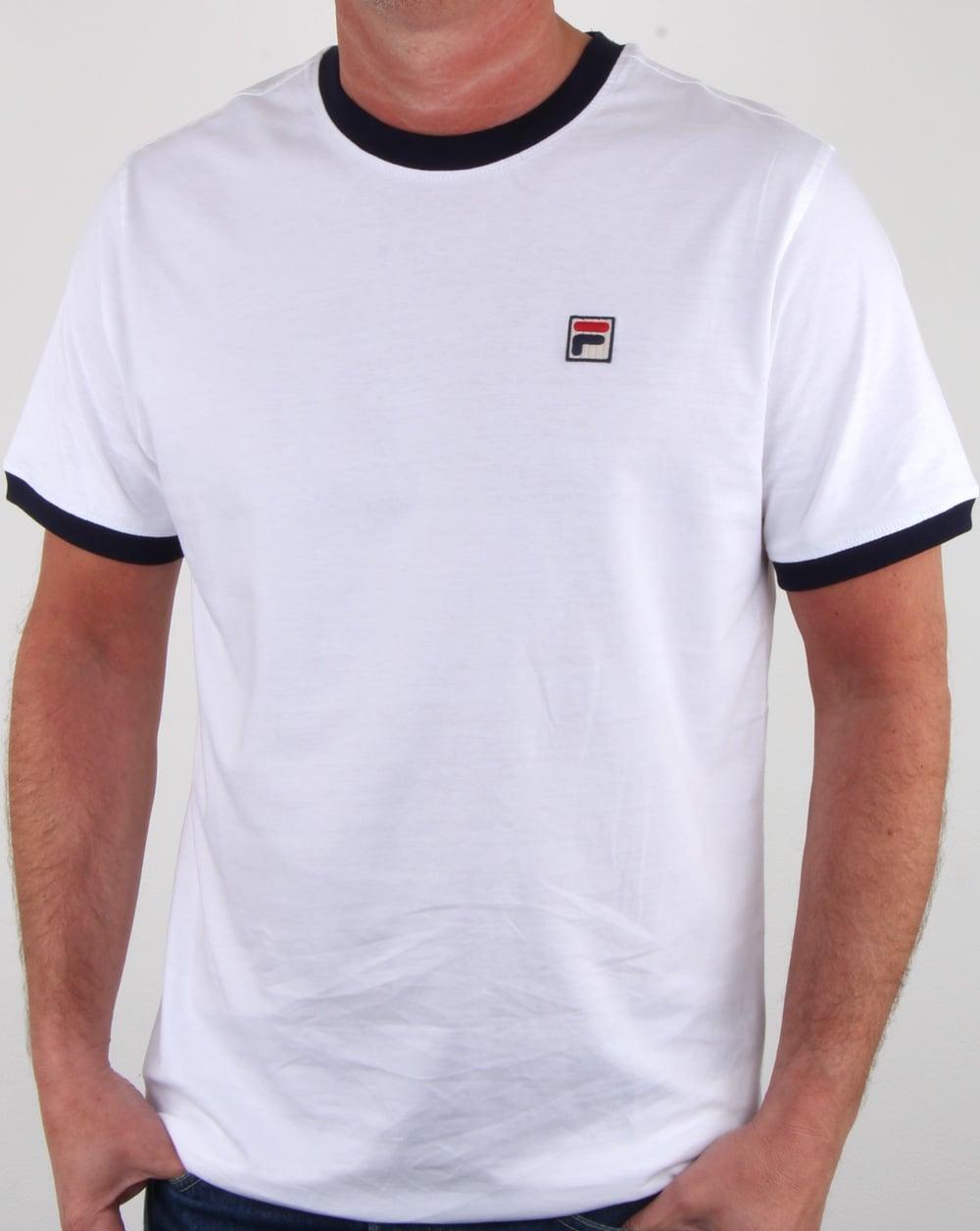 574fdf64 Fila Vintage Ringer T-shirt White,marconi,tee,mens
