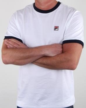 Fila Vintage Ringer T-shirt White