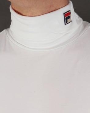 Fila Vintage Roll Neck White - Neck F Box
