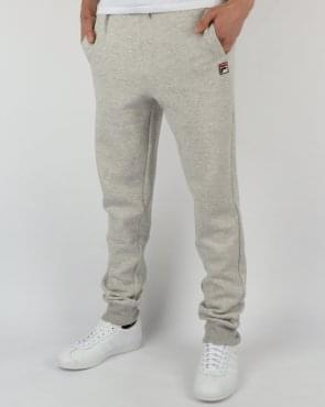 Fila Vintage Sarento Track Bottoms Light Grey Marl